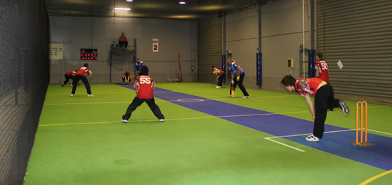 Hoppers indoor sportz for Indoor cricket net design
